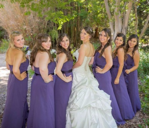 Bride with her Bridesmaids